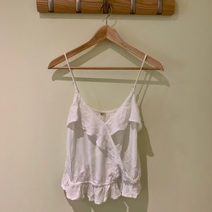 Hollister white flowing tank top